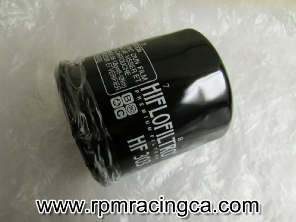 Hi Flo Oil Filter Black: Small