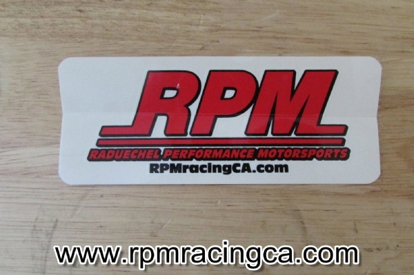 RPM Decal Small